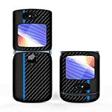 for Motorola Razr 5G 2020 6.2 inches Case,Leather Protective Case Folding Back Cover for Motorola Moto Razr 5G Phone (Blue)