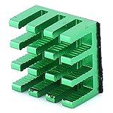 Surebuy Disipador de Calor de Aluminio de radiación 20 Piezas 14x14x8mm Aleta más fría para Disco Duro para enrutador para PCB(Green)