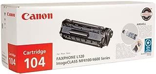 Canon 104 0263B001AA L90 L120 D420 D480 4100 4120 4150 4270 4350 4370 4690 Toner Cartridge (Black) in Retail Packaging