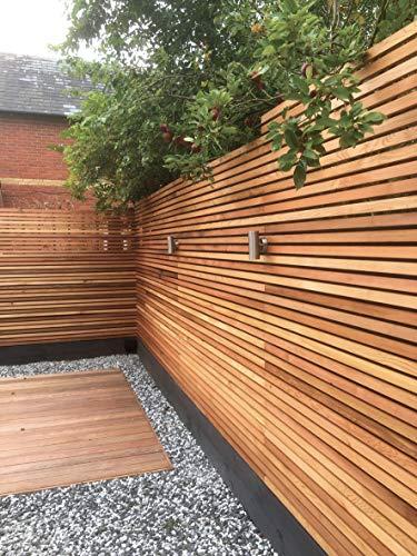 Western Red Cedar Batten Screen (21 Pack) 1.65m2 contemporary fencing cladding 18x38mmx1.83mtr slats battens for cedar fence panels