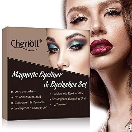 Faux Cils Magnétique, Eyeliner Magnétique Kit, Magnetic Eyeliner 3D Liquides Imperméable, Noir Imperméable à L Eau Magnétique Liquide Eyeliner pour Une Utilisation avec des Faux Cils Magnétiques