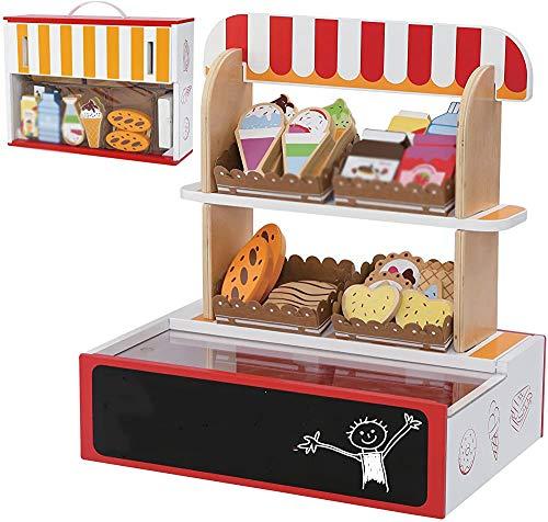 Juego de supermercados para niños, hecho de materiales de alta calidad, imaginación excitada para niños mayores de tres años,Wood