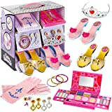 fash n kolor My First Princess Makeup Set Washable with Mirror and Dress Up...