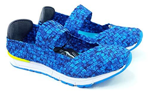 Rock Spring Damen Sneaker Lässig Sportschuhe Jogging Wandern Flache Schuhe Ballerinas Memory Foam Victory 39061 (EU 37, Pacific/Blau)