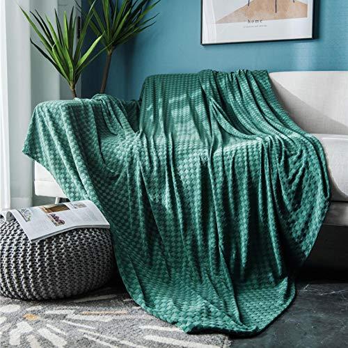 DZYP Manta para Arrojar, Mantas Decorativas Multiusos, Patrón A Cuadros con Dobladillo De Flecos, Transpirable, Suave y Duradera Lavable. (Verde,90x210cm)