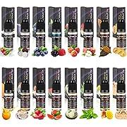 Kupbox E Liquids ohne Nikotin, E-liquid 16 x 10ml, E-Zigaretten Liquid Set 80VG/20PG, E-Juice Nikotinfrei, 16er Pack-Mehr Verpackung