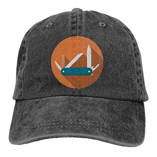 REAL PEAZ Washed Cotton Baseball Cap,Sun Hat Classic Sports Casual Hat, Solid Color Adjustable,Lightweight Breathable SoftSwiss Army Pocket Knife Icon Cap Baseball Hat Adjustable