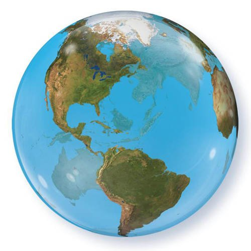 Luftballon Helium-Bubble Planet Earth, ca. 60cm