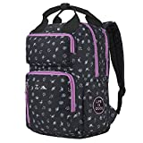 High Sierra Life is Good Mindie Backpack - Travel Laptop Backpack - Great for Students or Professionals - Fits Most 15-inch Laptop Models, Black/Happy Grape