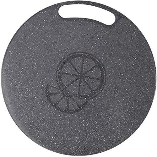 WSAD 1pc 31x0.5cm Bloque para Picar Imitación de mármol Tabla de Cortar de Frutas y Verduras Redonda de plástico (Color: 35x35x0.8cm)-Los 35x35x0,8cm