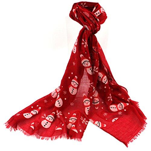 Black Ginger Pupazzo di Neve Sciarpa Rossa–Fun da Donna di Natale di
