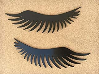 Eye Lashes MDF Plaque Cutout for Home, Room, Wall Decor, Art & Crafts, Gift for Friends,Backside Double Tape (Easy to USE)...
