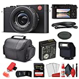 Leica D - Lux 7 Digital Camera (Black) (19141) + 64GB Extreme Pro Card + Card Reader + Case + Cleaning Set + Memory Wallet - Starter Bundle