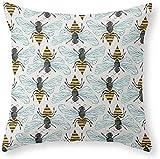 Honey Bee Funda de almohada, 45 x 45 cm