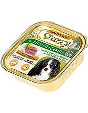 Stuzzy Mister, Comida húmeda para Perros Adultos, Sabor Ternera y Zanahorias, paté y Carne en trozos - Total 3,3 kg (22 tarrinas x 150 gr)