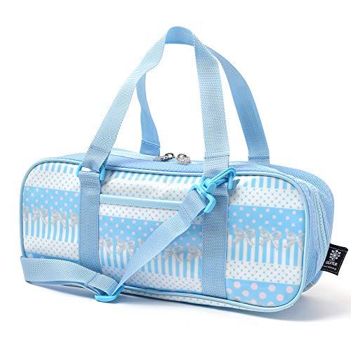 絵の具バッグ おけいこかばん ポルカドットとレースリボンに魅せられて(ライトブルー) N2112400