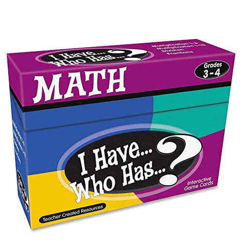 Teacher Created Resources I Have... Who Has...? Math Games Grade 3-4 (7819)