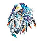 Pintura Al Óleo Animal Pintada A Mano,Pintado A Mano Abstracto Moderno Cabeza De Caballo Blanco Cabeza Lienzo Pintura Óleo Dibujo Sobre Lienzo Arte Regalo Cuadros Animal Hogar Decoración Regal
