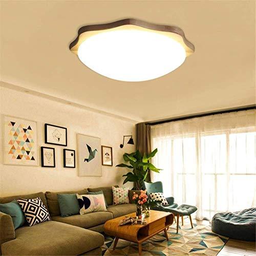 CENPEN Luz de cúpula nórdico registro dormitorio lámpara moderno contratado corredor de madera real balcón salón salón lámparas circular led luz de techo D44CM decoración del hogar