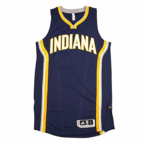 adidas Indiana Pacers NBA Navy Blue NBA Authentic On-Court Team Issued Pro Cut Jersey Jersey for Men (2XLT)