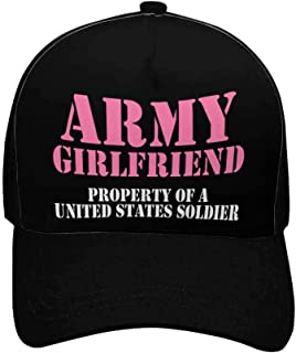 Army Girlfriend Mom Adjustable Unisex Women Baseball Caps Classic Dad Hats, Black