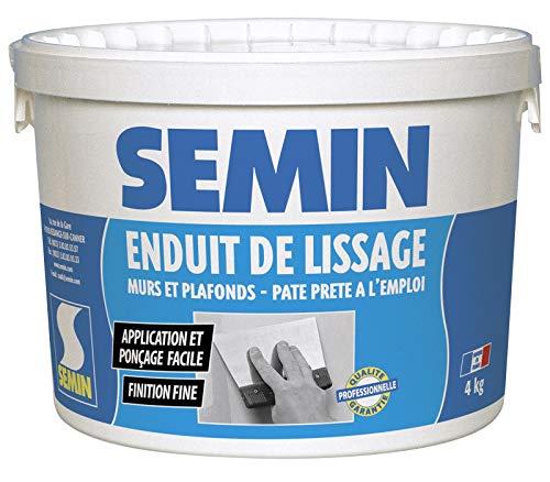 Semin A05267 Enduit de Lissage en Pâte pour Murs et Plafonds, Intérieur, Seau...