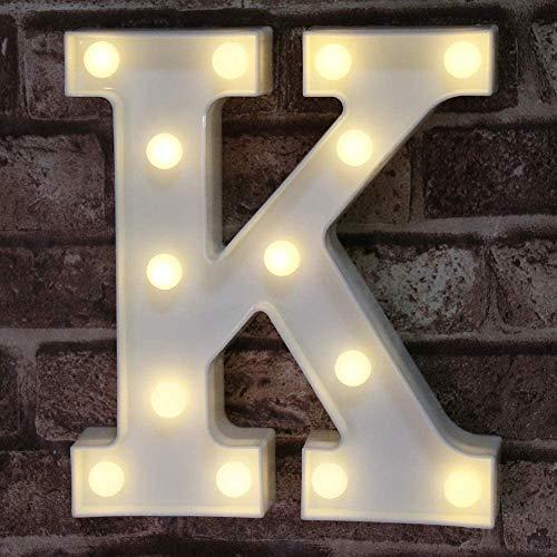 LED Marquee Letter Lights Alphabet Light Up Sign for Wedding Home Party Bar Decoration K