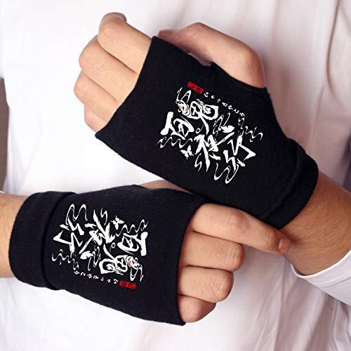 Loe Scp onmyoji personaje guantes de punto sin dedos Luminoso animación luminosa que rodea los guantes cálidos gratisCotton cálido medio dedo muñequera mitones cosplay accesorio accesorios regalos inv
