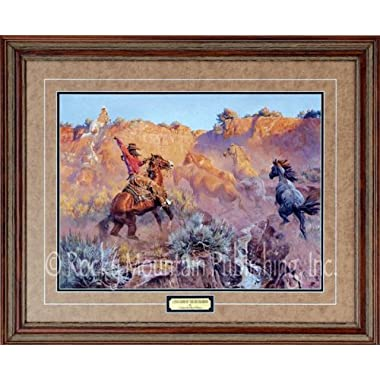 Clark Kelley Price Art - Long Arm of the Buckaroo - Custom Framed Western Art Print Ready to Hang on Your Wall