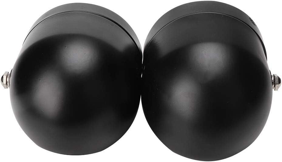 8,5 Zoll Universal Doppel-Scheinwerfer Black Grille+White Standard Doppel-Scheinwerfer f/ür Motorrad Eisen