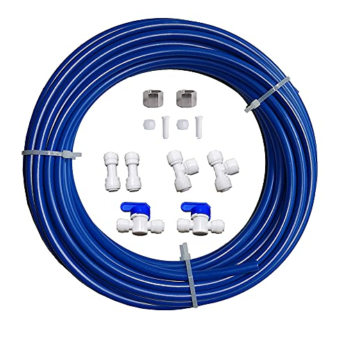 """Malida RO Water Systems Ice Maker Kit 1/4"""" for Reverse Osmosis Systems and Water Filters (blue)"""