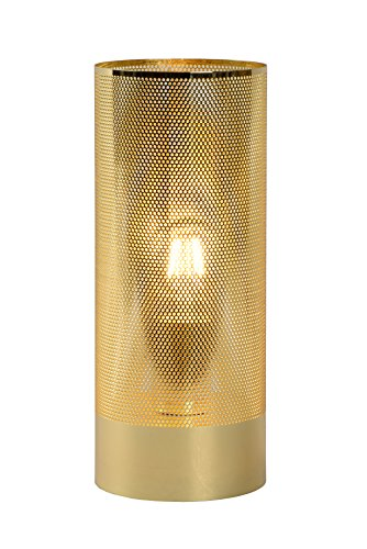 Lucide BELI - Tischlampe - Ø 12 cm - 1xE27 - Mattes Gold / Messing