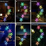 Yooda Color Changing Wind Chime Solar Powered Hummingbird Wind Chime Lights Wind Mobile Portable Waterproof Outdoor Decorative Wind Bell Light for Home Party Night Garden Decoration 7