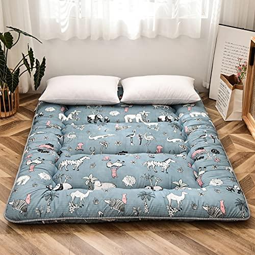 unhg Colchón De Suelo para Adultos Futón Japonés Colchoneta De Tatami Gruesa para Dormir Colchón Plegable Enrollable Sofá Cama con Tumbonas para Dormitorio,1.2m×2m (47 Inches×78 Inches)