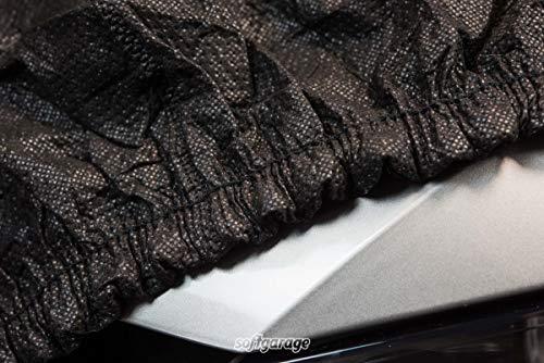 SOFTGARAGE 3-lagig schwarz Indoor Outdoor atmungsaktiv wasserabweisend Car Cover Vollgarage Ganzgarage Autoplane Autoabdeckung 104050-0005392