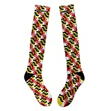 Route One Apparel | Maryland Flag Pattern Knee High Socks (Large)