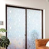 ニトムズ 窓ガラス 粘着 断熱シート (凹凸ガラス用) 幾何学 結露防止 幅90cm×長さ1.8m 1枚入 E1171