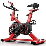 Bicicletas de Spinning Máquina De Correr Elíptica Bicicleta De Spinning Silencioso Bicicleta Doméstica De Resistencia Infinitamente Variable Equipo De Gimnasio ( Color : Red , Size : 85*45*102cm )