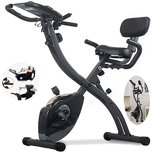 JFZCBXD Upright Folding Heimtrainer, Indoor Cycling Spinning Bike mit LCD-Display/Einzigartige Kordelzug System / 8-Datei Magnetron Widerstand