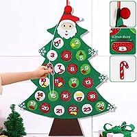 ★Dimensioni - Calendario dell' avvento di Natale misure 60cm x 85cm, dimensioni ideali per una decorazione da parete. Tasche sono abbastanza grande per adattarsi al cioccolato, dolci, caramelle, trattare, tealight, bustina, monete, piccoli regali, o ...