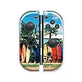 Nintendo Switch ケース 任天堂 スイッチ ジョイコン ケース ハードタイプ 傷から守る サーフィン ハワイアン バカンス 南国 海 ピンク ブルー ブラウン オレンジ 人気 かわいい おしゃれ
