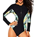 LafyKoly Women's One Piece Long Sleeve Rash...