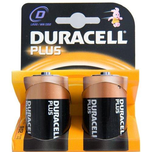 Duracell Batterie D,Mono (LR20,MN1300) Plus Power;2 Pack
