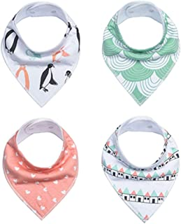 Adorable Baby Bandana Drool Bibs - 4- Pack Set Along with Snaps - Soft as Well as Absorbent Infant and Child Accessories EVA Bibs Water-Resistant Four Seasons Wearable