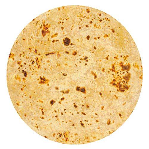 MYYU Burrito Decke, Runde Neuheits Tortilla Kuscheldecke, Mikrofaser Flanell Food Creation Tagesdecke, Super Weiche Warme,6,100cm