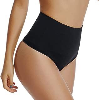 WOWENY Thong Shapewear for Women Tummy Control Panties High Waist Trainer Girdle Underwear Body Shaper