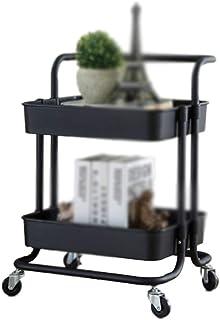ChangSQ-Étagère de rangement Organisateur de roulement de stockage, 2 vitesses avec roues Book Support de rangement des li...
