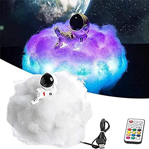 ACCZ Lámpara LED de Nube de Astronauta, Astronauta con Efecto Colorido, Luz de Nube con Control Remoto, Luz de Noche Decorativa y Decoración de Habitación para Niñas y Niños,Lie Down