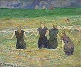 JH Lacrocon Paul Gauguin - Les Femmes Baignade Dieppe Tableau Reproduction sur Toile...