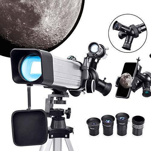 Telescopio Astronomico Professionale-Telescopio Portatile con 3 Oculari Rotanti, 20X-167X Telescopio Astronomico Adulti